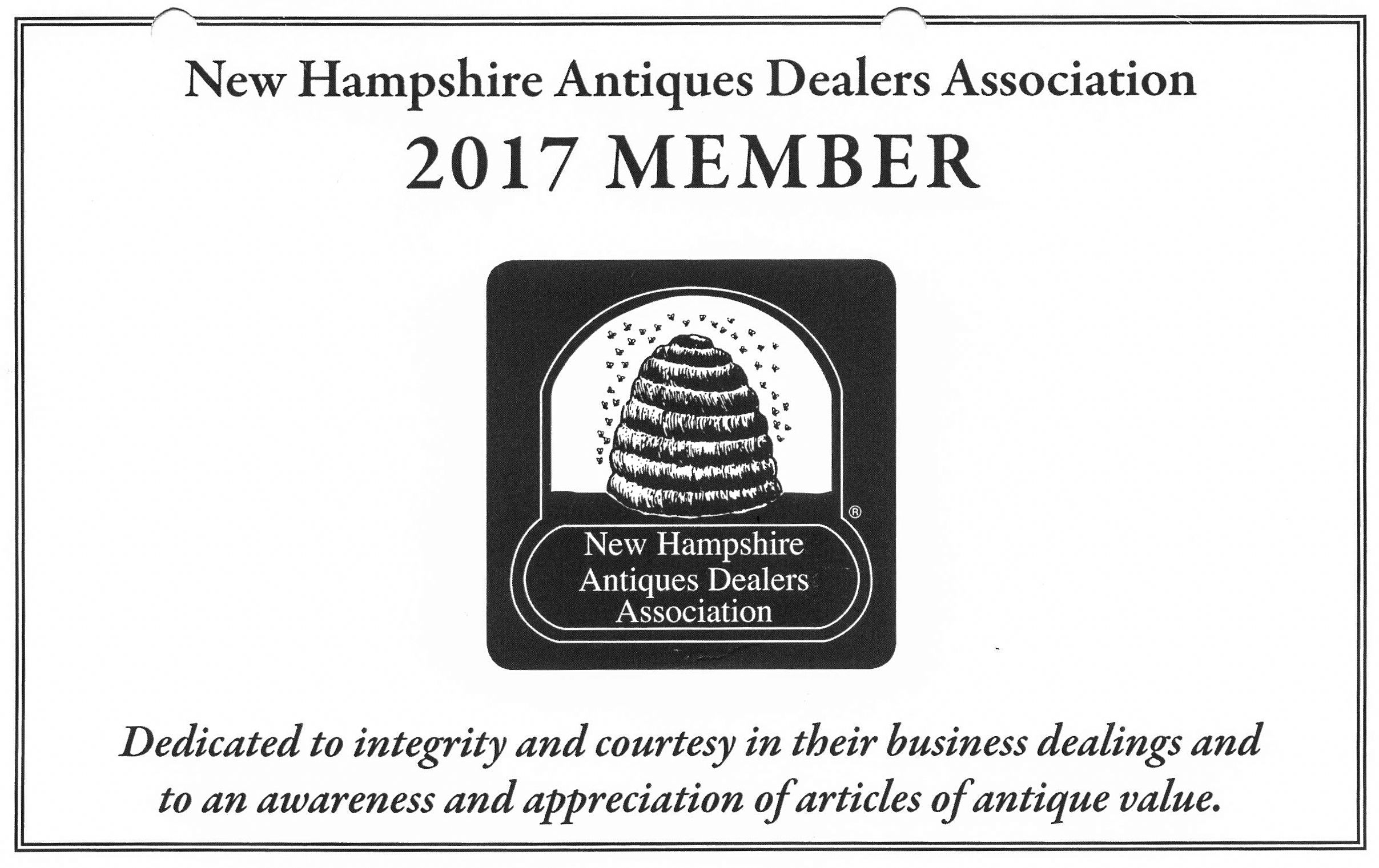 Fry Fine Art is a proud member of the New Hampshire Antique Dealers Association