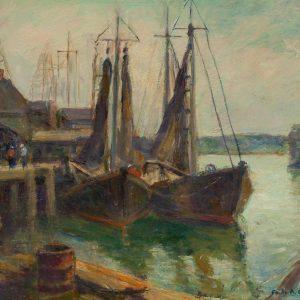 Emile Albert Gruppe - Harbor Scene