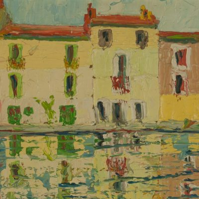 Colorful Venice Oil Painting on Sale at Fry Fine Art