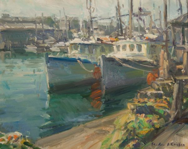 Stephen Griffin Impressionistic Oil Painting of Provincetown Massachusetts