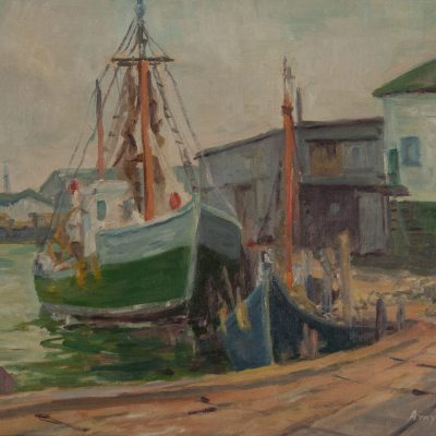 Amy Smith Oil Painting of Gloucester Maine at Fry Fine Art