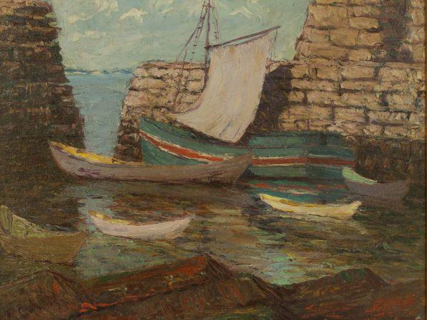 Morris Hall Pancoast oil painting of Marblehead Ma at Fry Fine Art