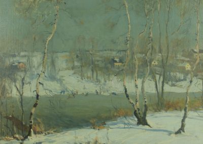 Arthur Clifton Goodwin The Frozen Neponset River Painting at Fry Fine Art