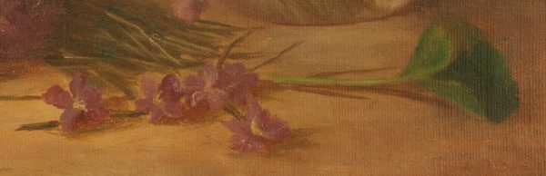 Benjamin Champney Oil Painting of Violets at Fry Fine Art