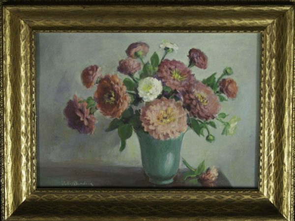 Juliet Burdoix Floral Arrangment Oil on Board 12 x 16 Fry Fine Art