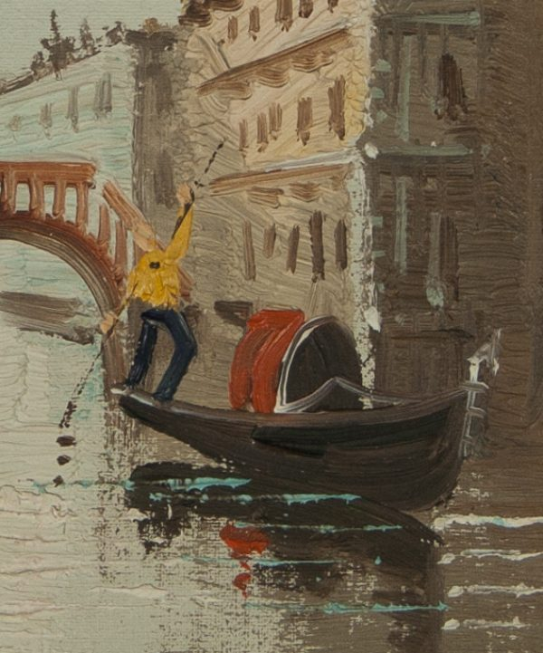 Venetian Canal Scene by Unknown Artist for sale at Fry Fine Art