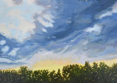 The chi of clouds. New works by Daryl D. Johnson showing at the Pelletier Studio at Fry Fine Art.